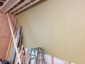 LDK西側壁仕上げ施工前