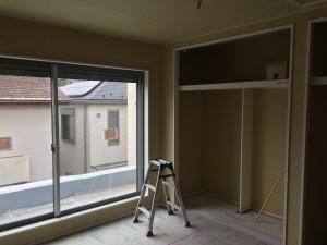 2階洋室(10.1帖)下地工事完了